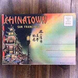 Vintage San Francisco CA Souvenir Postcard Book